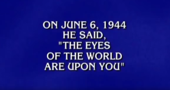 THIS MILITARY-DIPPED FINAL JEOPARDY! QUESTION - THE SITREP MILITARY BLOG