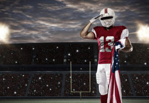 NFL football salute to service
