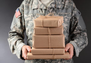 military shipping packages