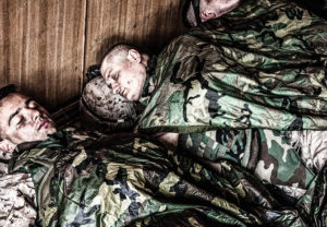 soldiers sleeping